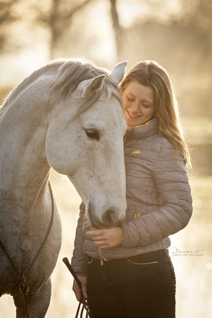 Portrait Pferd und sein Mensch