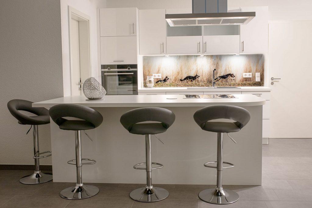 Individuelle Küchenrückwand mit eigenem Bild