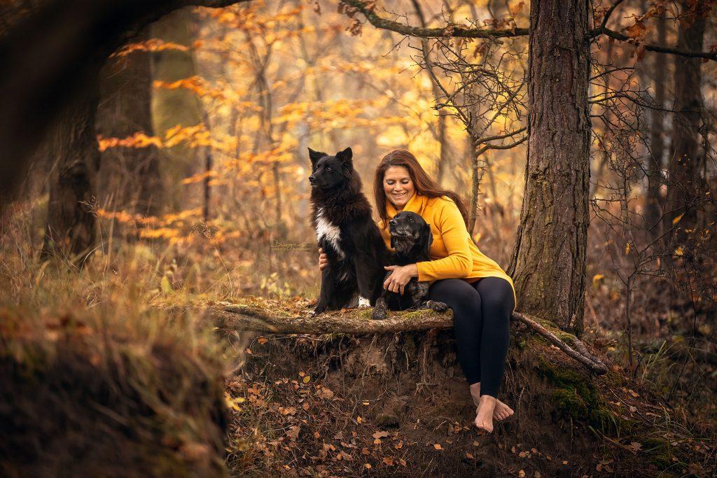 Mit den Hunden im Wald - Herbsstimmung
