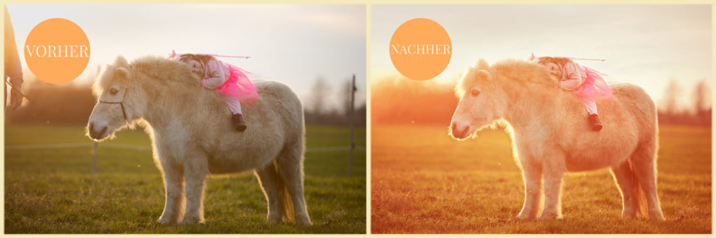 Vorher/Nachher Vergleich Fotografie