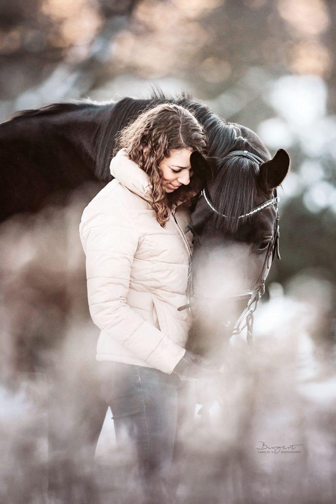 Schneeshooting mit Pferd